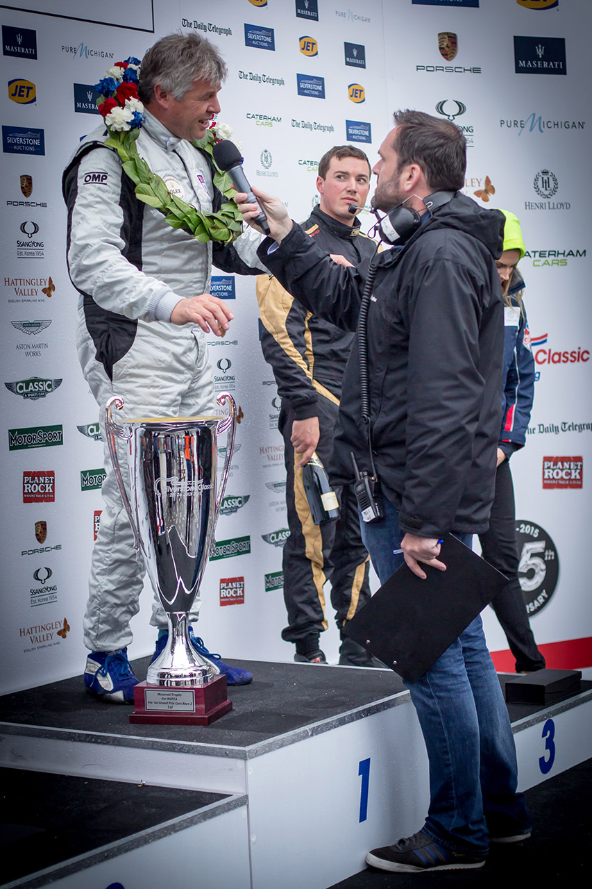 Tim Harvey on the winners podium